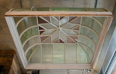 beautiful Victorian stained glass skylight dome