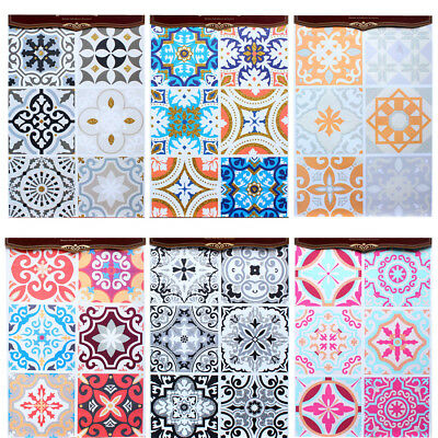 PVC Moroccan Style Adhesive Wall Mosaic Tile Sticker Transfer