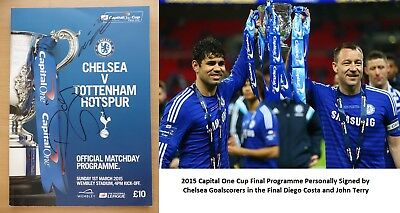 2015 Capital One Cup Final Programme Signed by Costa & Terry - Chelsea (11444)