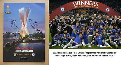 2013 Europa League Final Multi Signed Chelsea v Benfica Programme (11445)