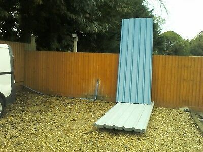 Roofing sheets, box profile,blue/grey,12ft lengths,£16 each, NO VAT