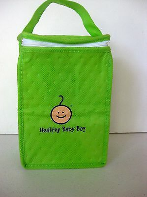 Cottonwood Kids on-the-go insulated Healthy Baby Bag, lunch, snacks, lime green