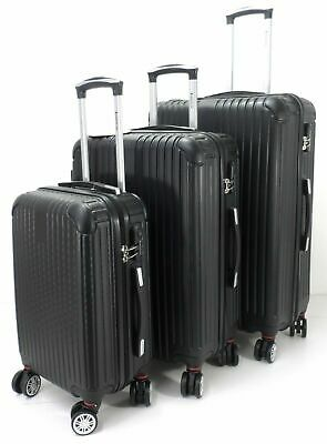 Set Of 3 Suitcases Lightweight 8 Wheel Spinner Trolley Case Travel Luggage Set