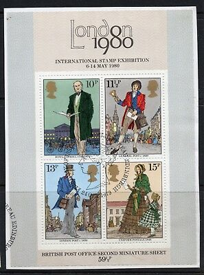 GB = 1979 `Sir Rowland Hill` set of 1. SG MS1099. Ex FDC. Fine Used (b)