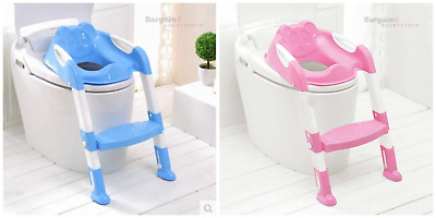 Toddler Kids Baby Children Toilet Ladder and Seat Potty Training Non Slip Safe