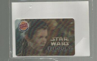 Burger King 6 Star Wars Episode VI 3-D Gift Cards--No Value MINT in Package 2005