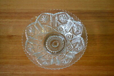 Vintage pressed glass dish serving tray tableware