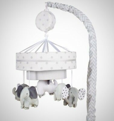 Elephant Musical Mobile Crib Toy Baby Infant Cot Mounted Spin Plush Characters