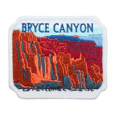 Bryce Canyon Utah Patch National Park Travel Hoodoo Embroidered Iron On Applique