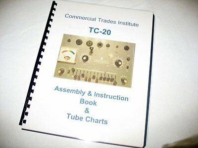 Assembly Manual Tube Tester Data Charts re CTI Commercial Trades Institute TC-20