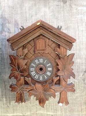 Antique Black Forest Cuckoo Clock Case For Restoration Or Spare Parts 19x15x12cm