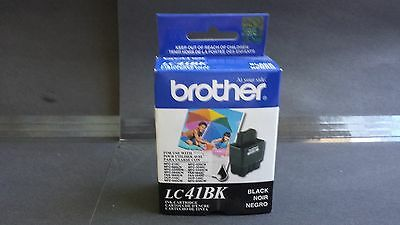 Genuine Brother Black Inkjet Cartridge LC41BK 10/2011 One Unit DCP & MFC models