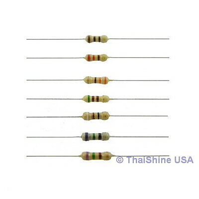 100 x Resistors 1K Ohm 1/4W 5% Carbon Film - USA Seller - Free Shipping