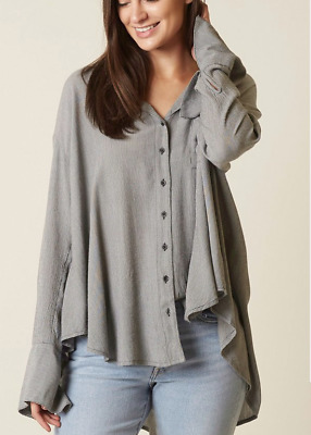 NWT Free People Last Chance Button Down Shirt Retail $98