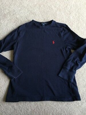 Boys Blue Long Sleeved Top By Ralph Lauren Size S Age 8 Years