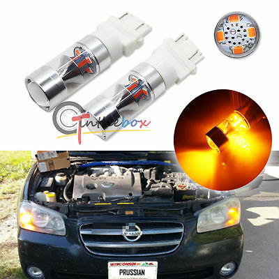2X Amber 3156 3157 XBright 3535-SMD LED Bulbs For Turn Signal, Backup DRL Lights