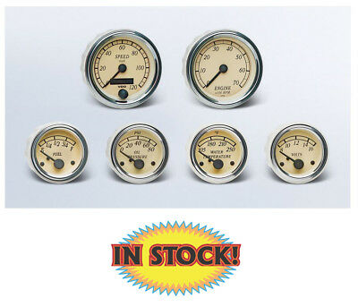 VDO Heritage Chrome 6 Gauge Kit with 3-3/8 Speedometer & Tachometer A2C59519574