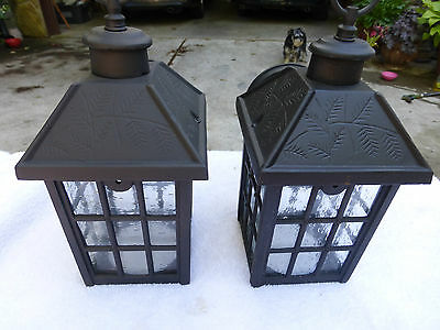 Vintage pair of carriage porch breezeway matching wall mount lights lanterns