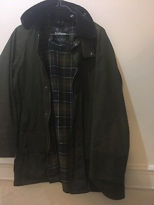Barbour Classic Beaufort Men's Waxed Jacket Olive L
