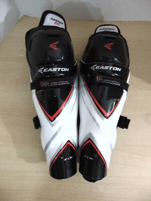 Hockey Shin Pads Youth Size 13 inch  Easton New Demo Model Black Red White