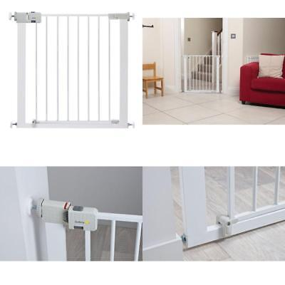 New Baby Four Point Pressure Indicator Safety Gate Pet Child Stair Barrier White