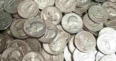 40 Silver Quarters = $10 Face = Full Roll ~ 90% Silver !  Free Shipping !