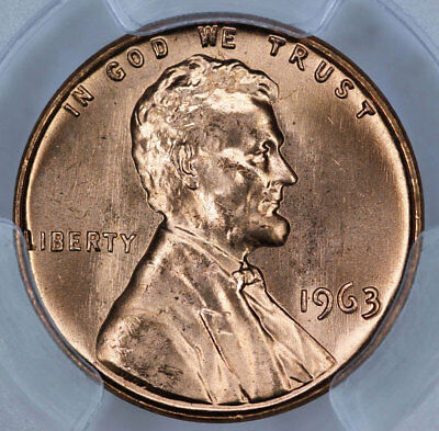 1963 PCGS MS66RD Lincoln Cent