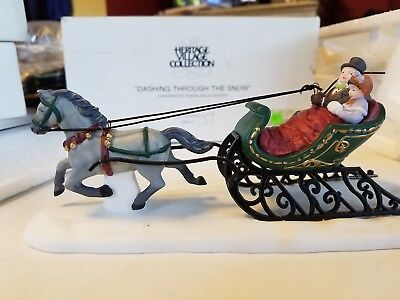 DEPT 56 DASHING THROUGH THE SNOW - Dickens Village Accessory NEW Retired 58203 v