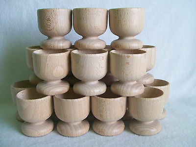 80 x Wooden Egg Cups Wedding Favours