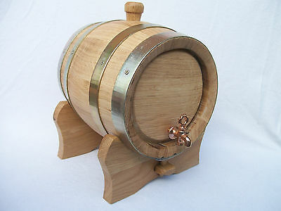 Wooden 3 L Litres Oak Keg Barrel Cask Wine Spirit Bourbon Christmas Gift
