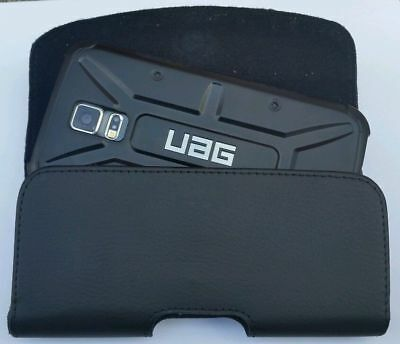 For Samsung Galaxy Note 8 Xl Belt Clip Leather Holster Fits A Uag Case On Phone