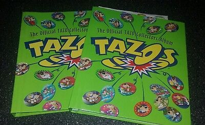 Official Tazo Collectors Album Complete and disk - free postage