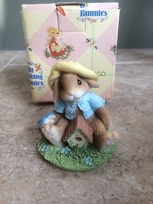 """Enesco My Blushing Bunnies """"Bless This House"""""""