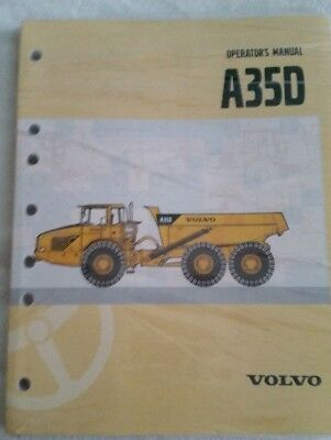Volvo A35D Articulated Hauler Truck Operator's Users Guide Manual Book