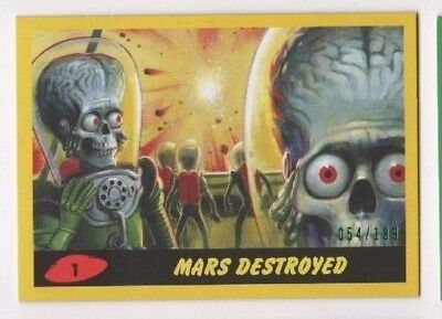 2017 Mars Attacks Revenge complete YELLOW base & pencil set 1-55 total 110 x/199