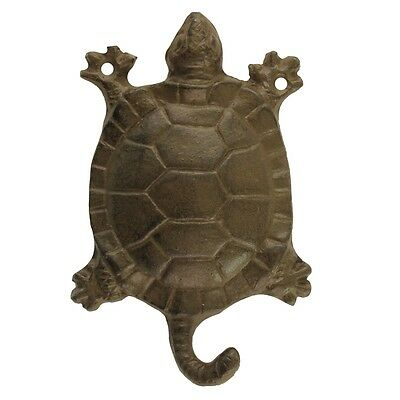 Cast Iron Wall Mount Deep Sea Turtle Key Holder Hook Coat Hat Rack Leash Hanger
