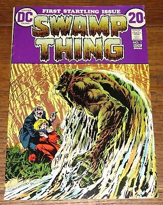 Swamp Thing #1 1 1St Dc Comic Book 1972 1St Origin Wrightson Grade 7.5 Near Ex