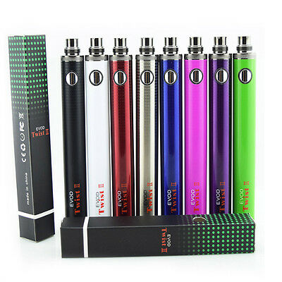 Evod 2 Twist II 1600mah Variable Voltage Battery 510 Thread 3.3V-4.8V Battery