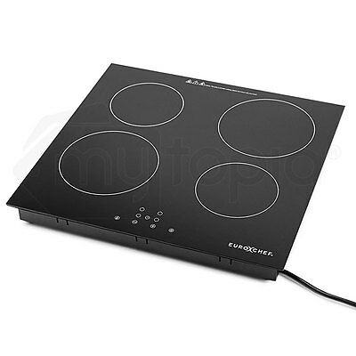 Electric Induction Cooktop- 4 Zone Safe Touch Burner Kitchen Cooker