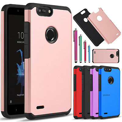 For ZTE ZMax Pro 2 / Z982 Shockproof Hybrid Hard Slim TPU Armor Phone Case Cover