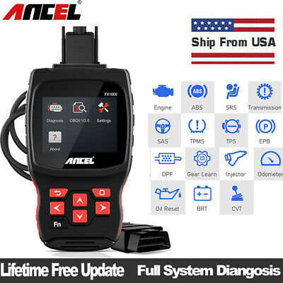 OBD2 EOBD ABS SAS Airbag Fault Code Reader Scanner Engine Check Diagnostic Tool