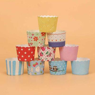 50X Cupcake Wrapper Paper Cake Case Baking Cups Liner Muffin Baking Cups