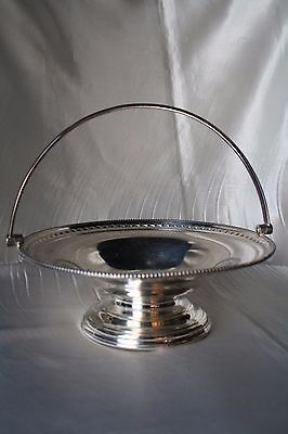Silver Plated Fruit Basket with Handle