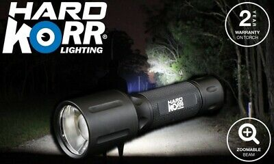 Hard Korr Lighting LED KT6 Torch 10W Cree Led 520 Lumens 6000K Rechargable