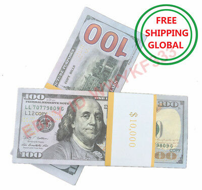 PROP PLAY FAKE MONEY $100x100pcs USD Dollar ONLY MOTION PICTURE PURPOSES