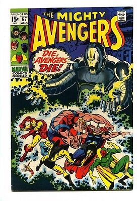 Avengers #67 - Marvel 1969 - VFN- - Ultron-6 - Cover and Story by Barry Smith