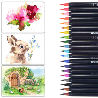 20 Colors Watercolor Pen Set Art Drawing Painting Brush Sketch Manga Pen AC888