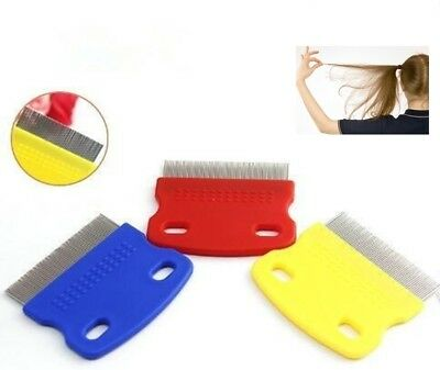 Head Lice Metal Comb Nit Hair Pet Safe Flea Comb Kids or Pets.