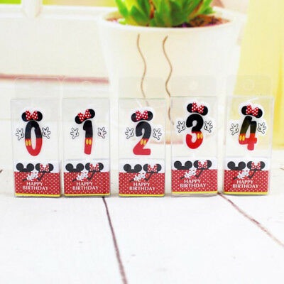 Hot Sale Cake Candles Number 0~9 Candles Cartoon Mouse Happy Birthday