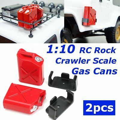 1:10 RC Rock Crawler Scale Accessory Gas Cans 2pcs 1 Pair for CX10 CC01 4WD TF2